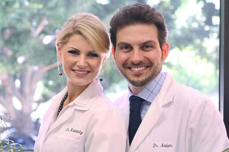 Photo of Brentwood area Periodontists Dr. Aalam and Dr. Krivitsky of Implant Perio Center